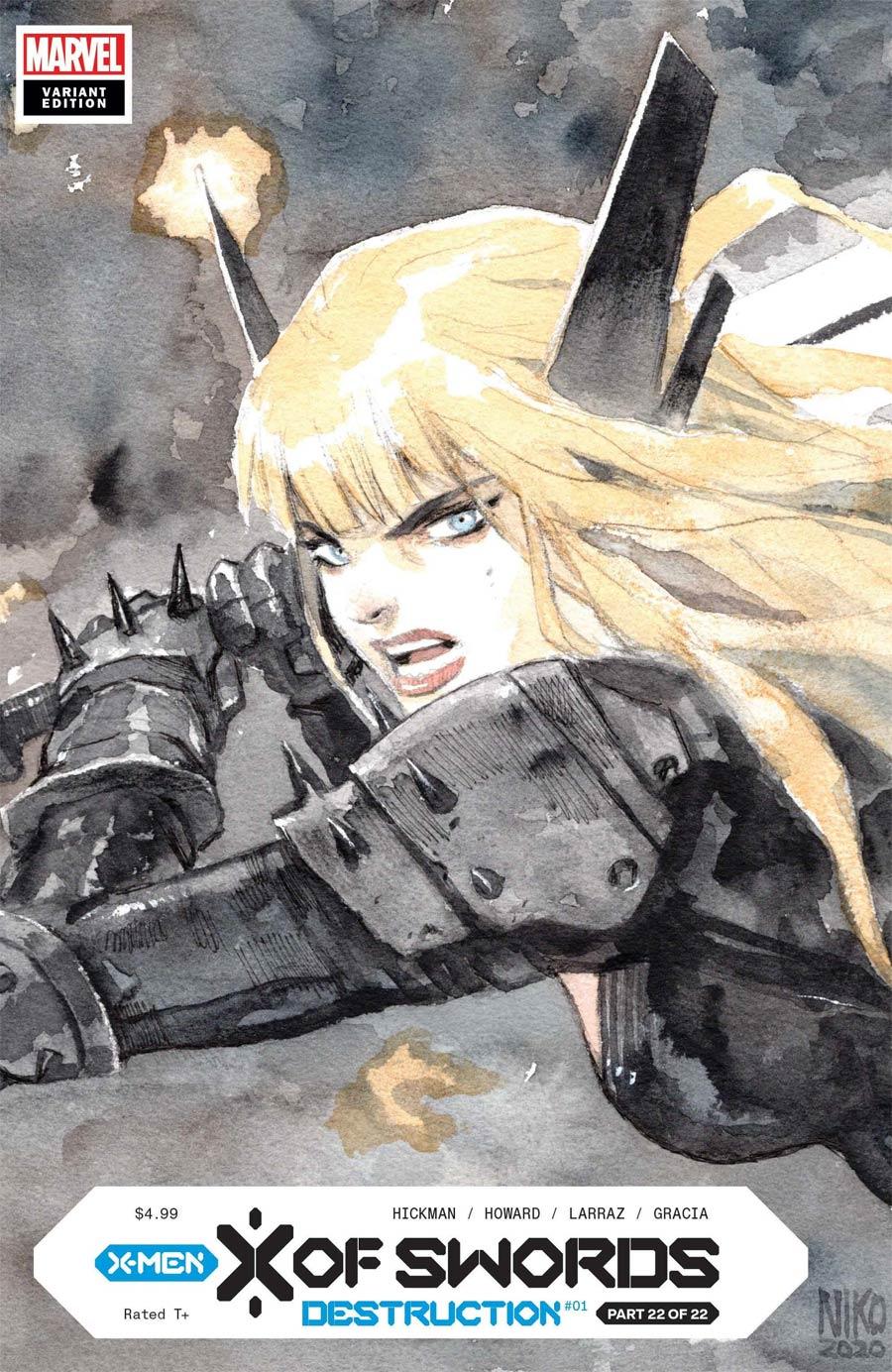 X Of Swords Destruction #1 Cover H LCSD 2020 Niko Henrichon Variant Cover (X Of Swords Part 22)
