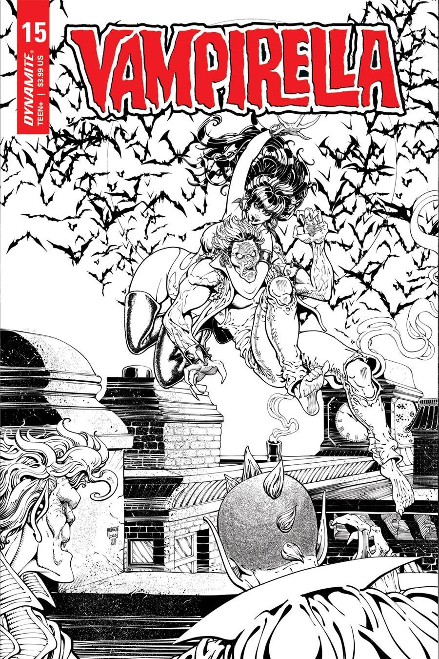 Vampirella Vol 8 #15 Cover Q Incentive Will Robson Classic Batman Homage Black & White Cover