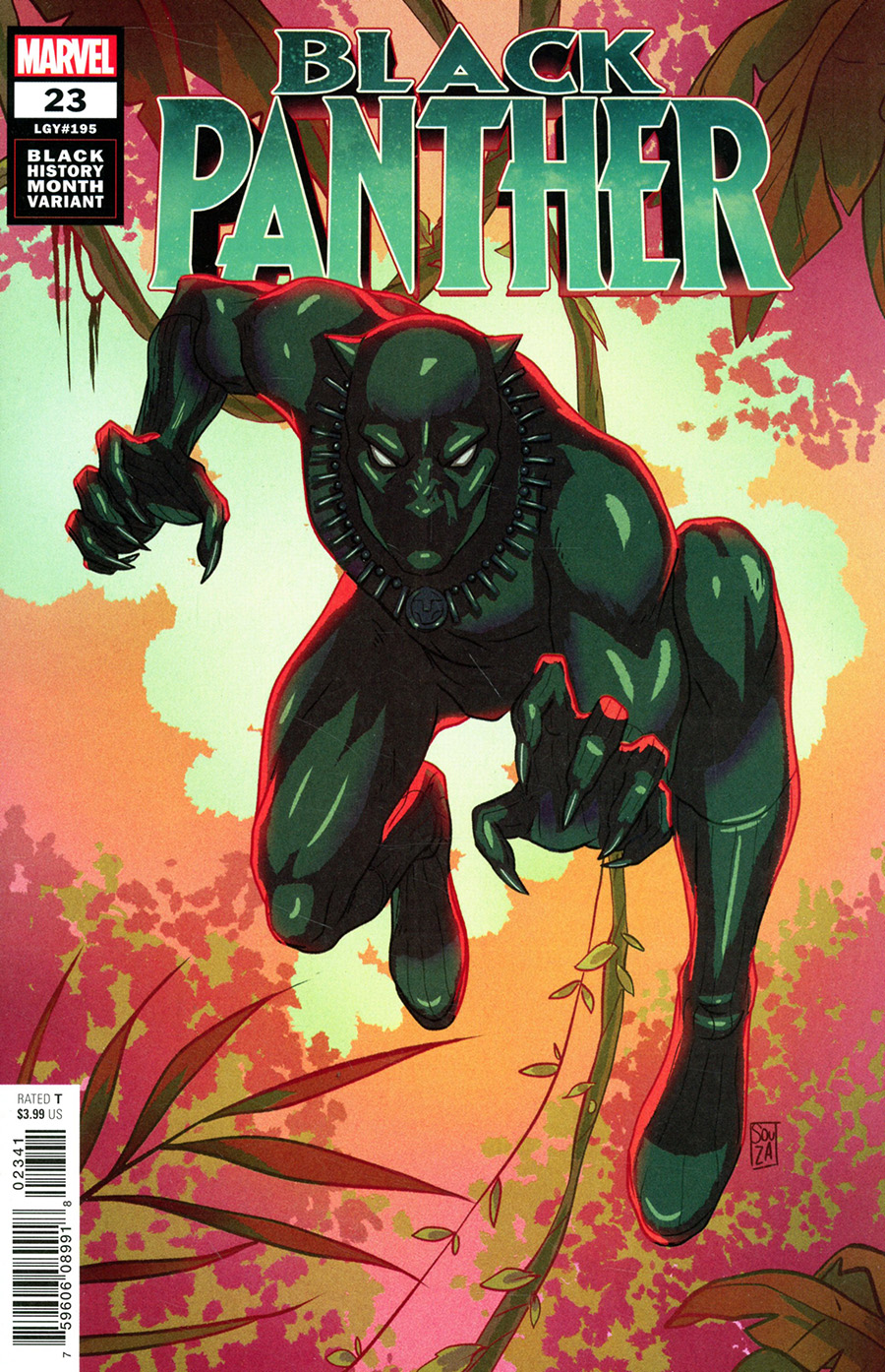 Black Panther Vol 7 #23 Cover B Variant Ernanda Souza Black History Month Cover