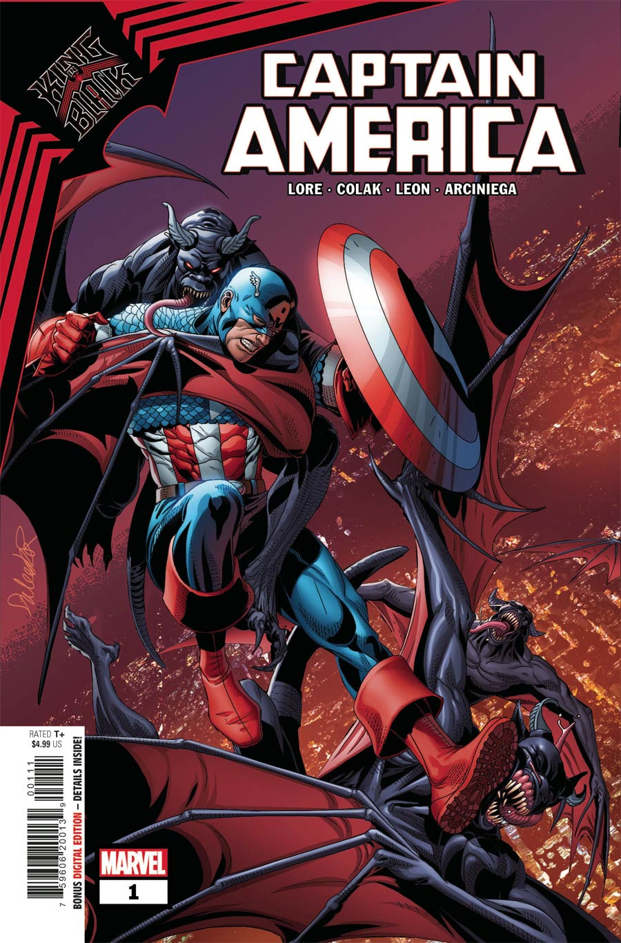 King In Black Captain America One Shot Cover A Regular Salvador Larroca Cover