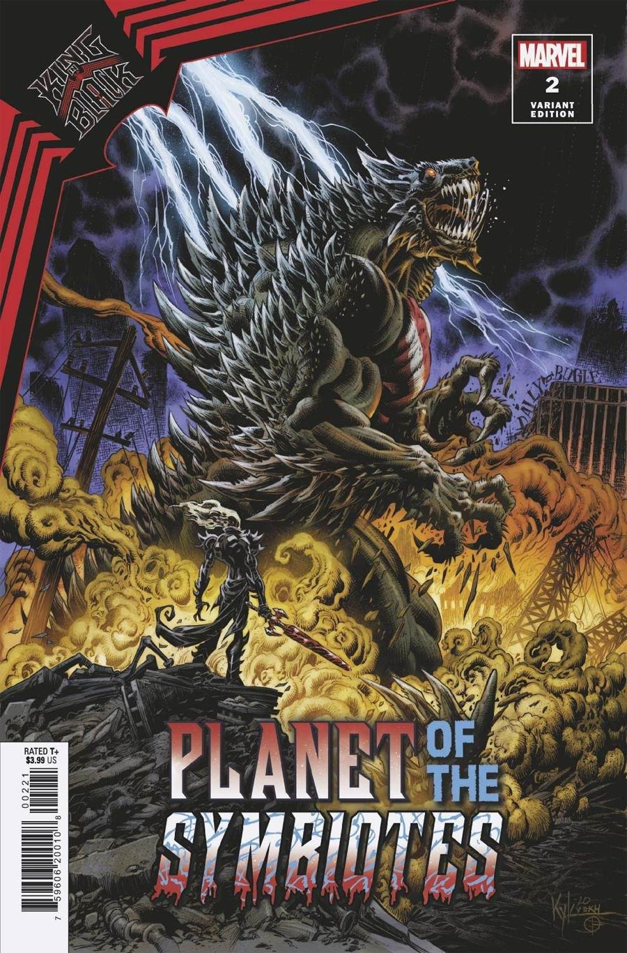 King In Black Planet Of The Symbiotes #2 Cover B Variant Kyle Hotz Cover