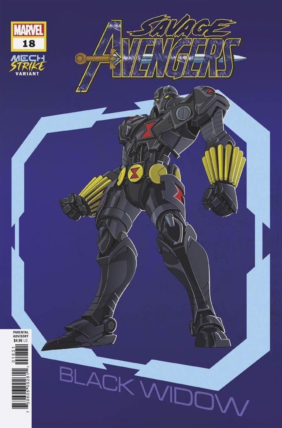 Savage Avengers #18 Cover B Variant Leo Castellani Avengers Mech Strike Cover (King In Black Tie-In)