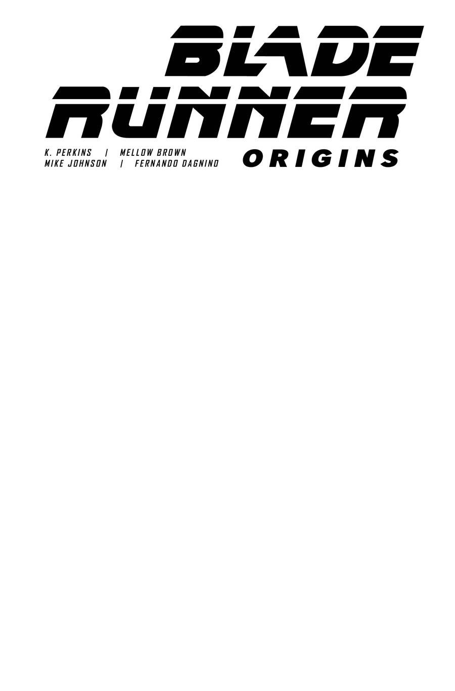 Blade Runner Origins #1 Cover F Variant Blank Cover