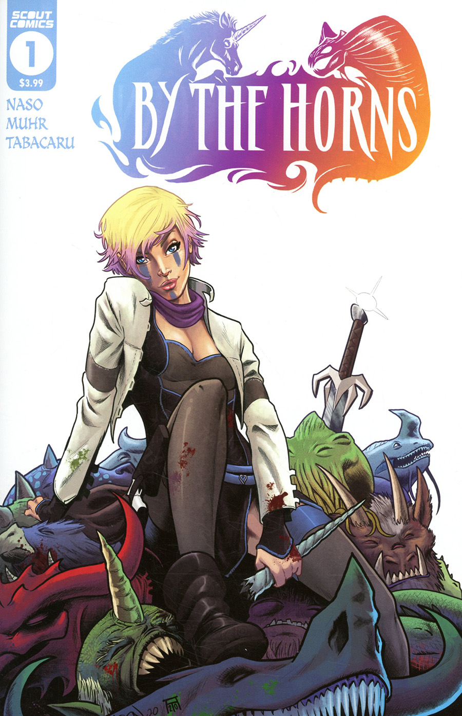 By The Horns #1 Cover A Regular Jason Muhr Cover