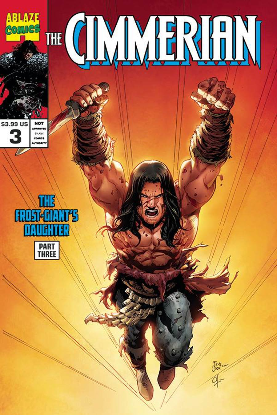 Cimmerian Frost-Giants Daughter #3 Cover D Variant Fritz Casas Wolverine 27 Parody Cover