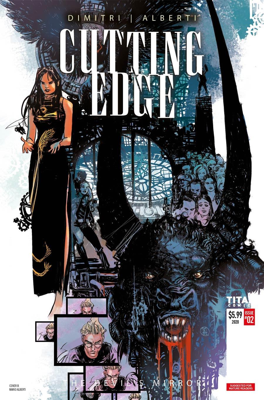 Cutting Edge Devils Mirror #2 Cover B Variant Mario Alberti Cover