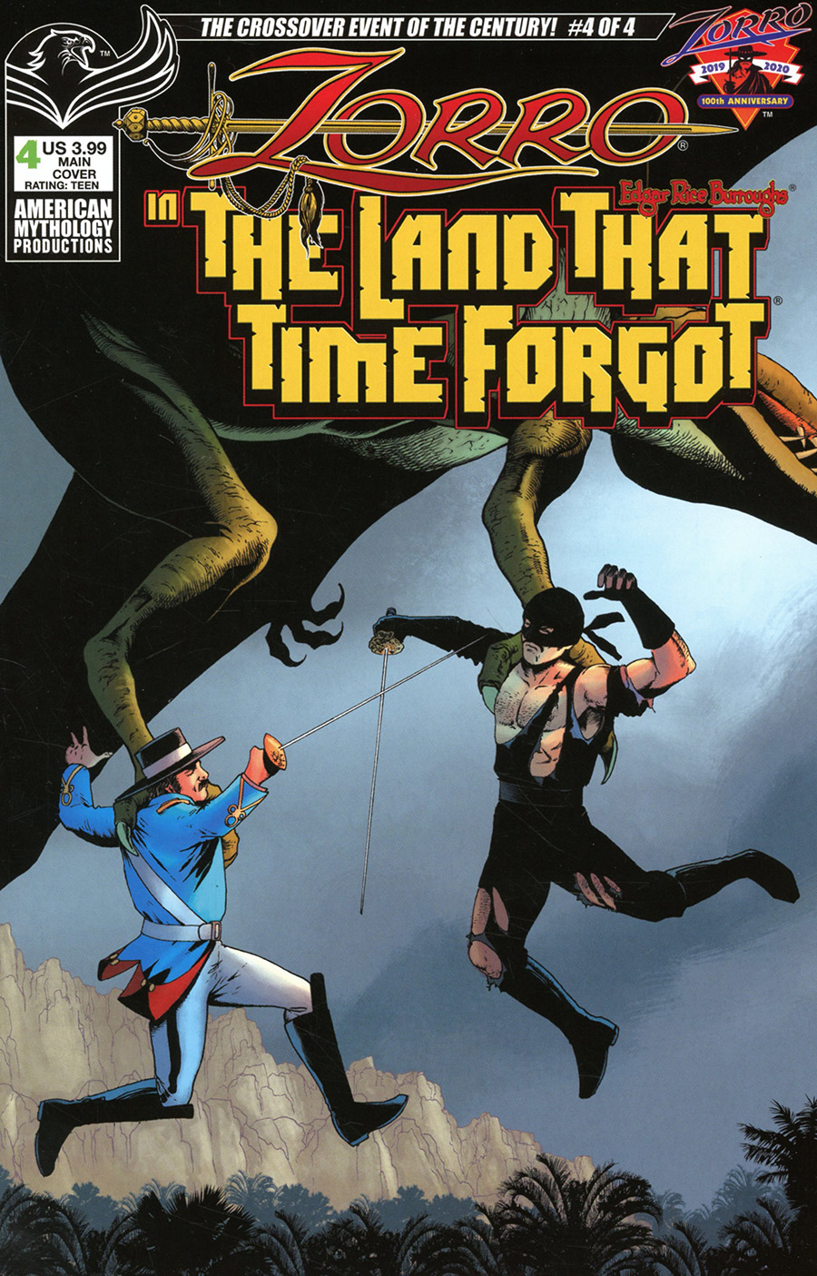 Zorro In The Land That Time Forgot #4 Cover A Regular Mike Wolfer Cover