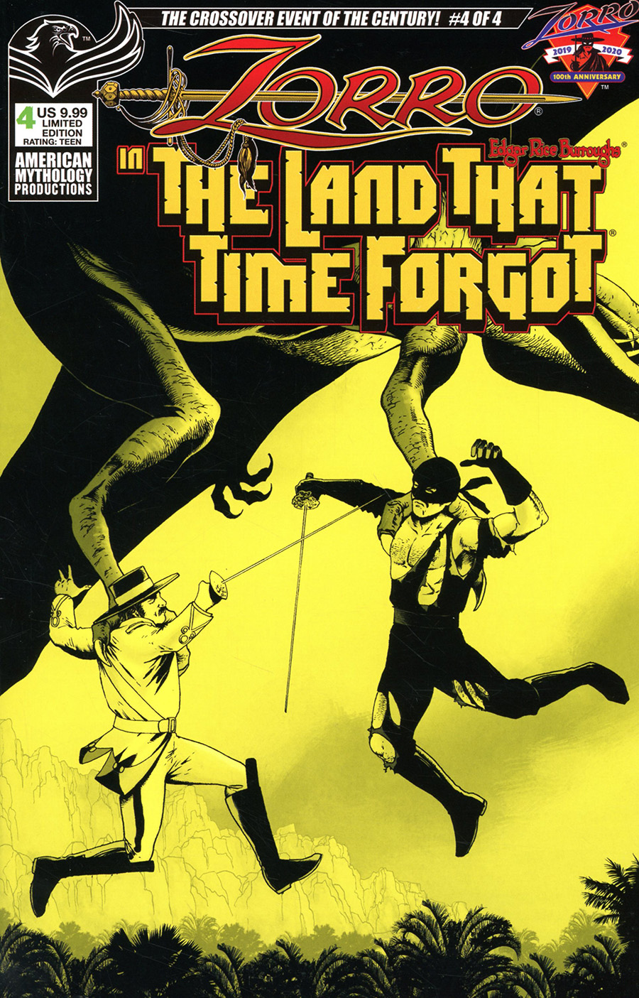 Zorro In The Land That Time Forgot #4 Cover B Limited Edition Mike Wolfer Pulp Cover