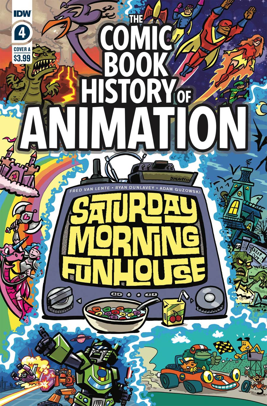 Comic Book History Of Animation #4 Cover A Regular Ryan Dunlavey Cover