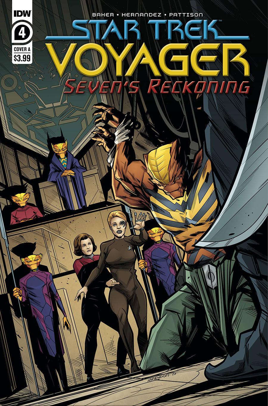Star Trek Voyager Sevens Reckoning #4 Cover A Regular Angel Hernandez Cover