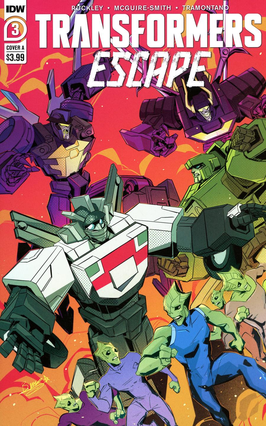 Transformers Escape #3 Cover A Regular Beth McGuire-Smith Cover