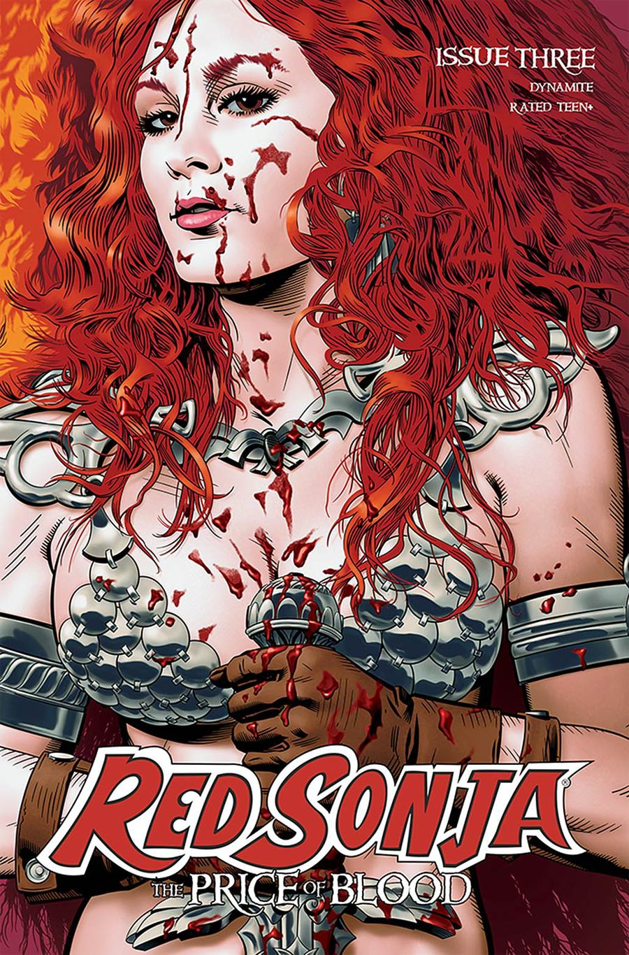 Red Sonja Price Of Blood #3 Cover B Variant Michael Golden Cover
