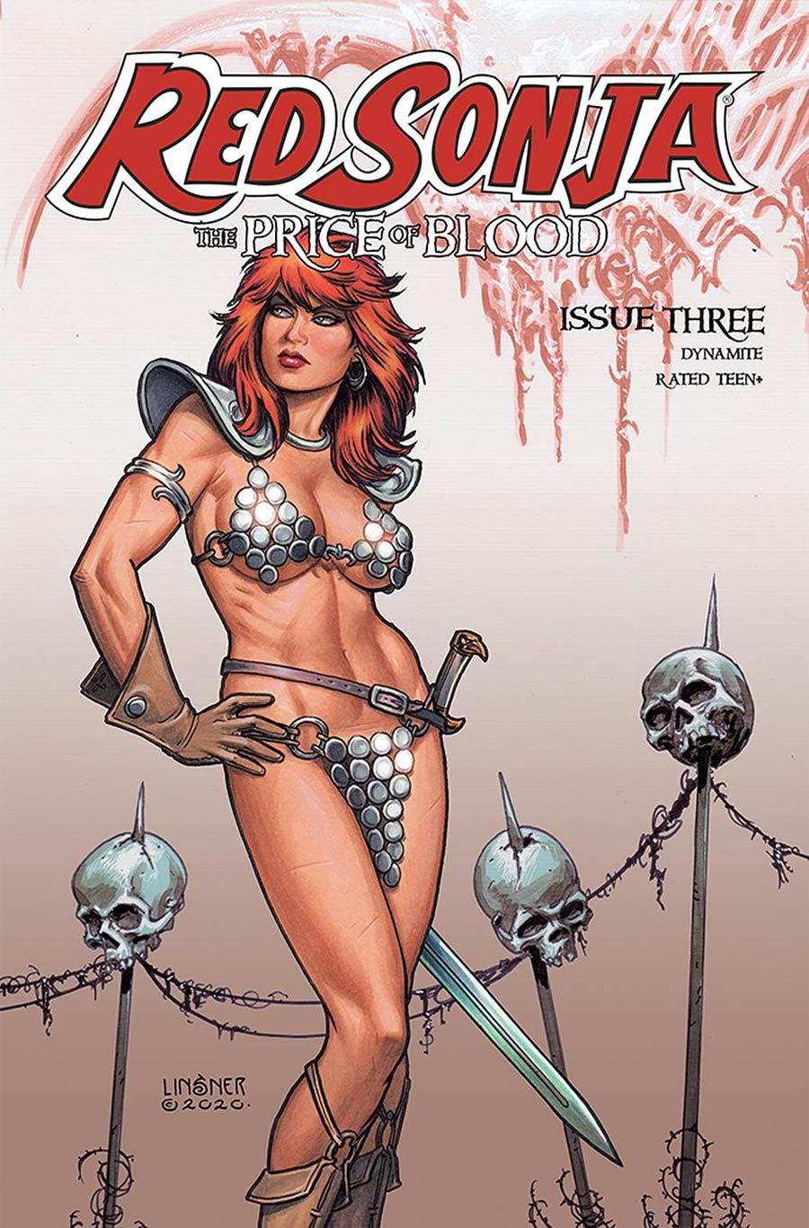 Red Sonja Price Of Blood #3 Cover C Variant Joseph Michael Linsner Cover