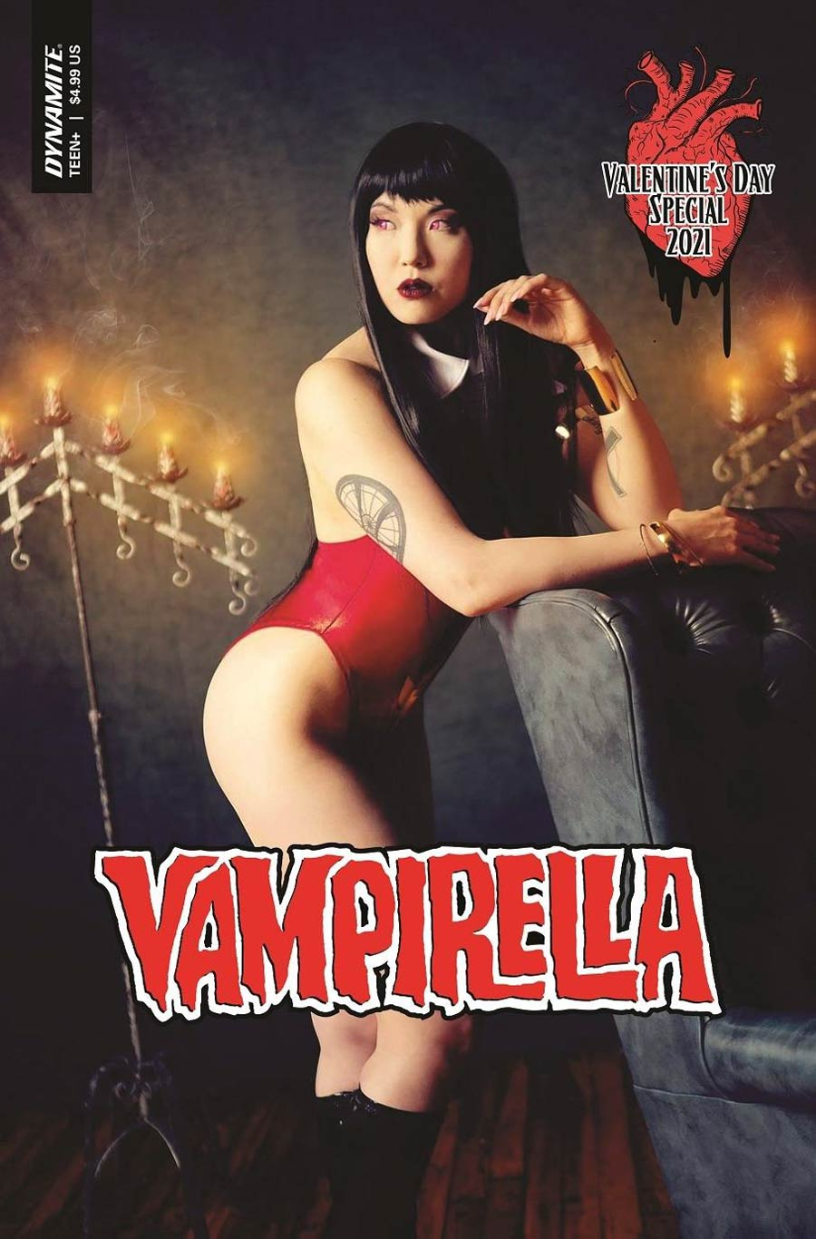 Vampirella Valentines Special (2021) One Shot Cover C Variant Sarah Stalcup Cosplay Photo Cover