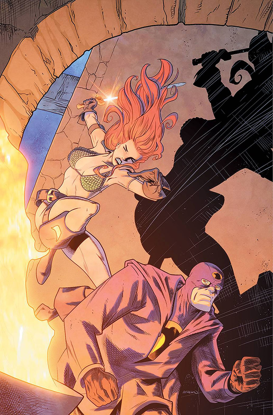 Red Sonja The Superpowers #2 Cover N Incentive Lee Ferguson Virgin Cover