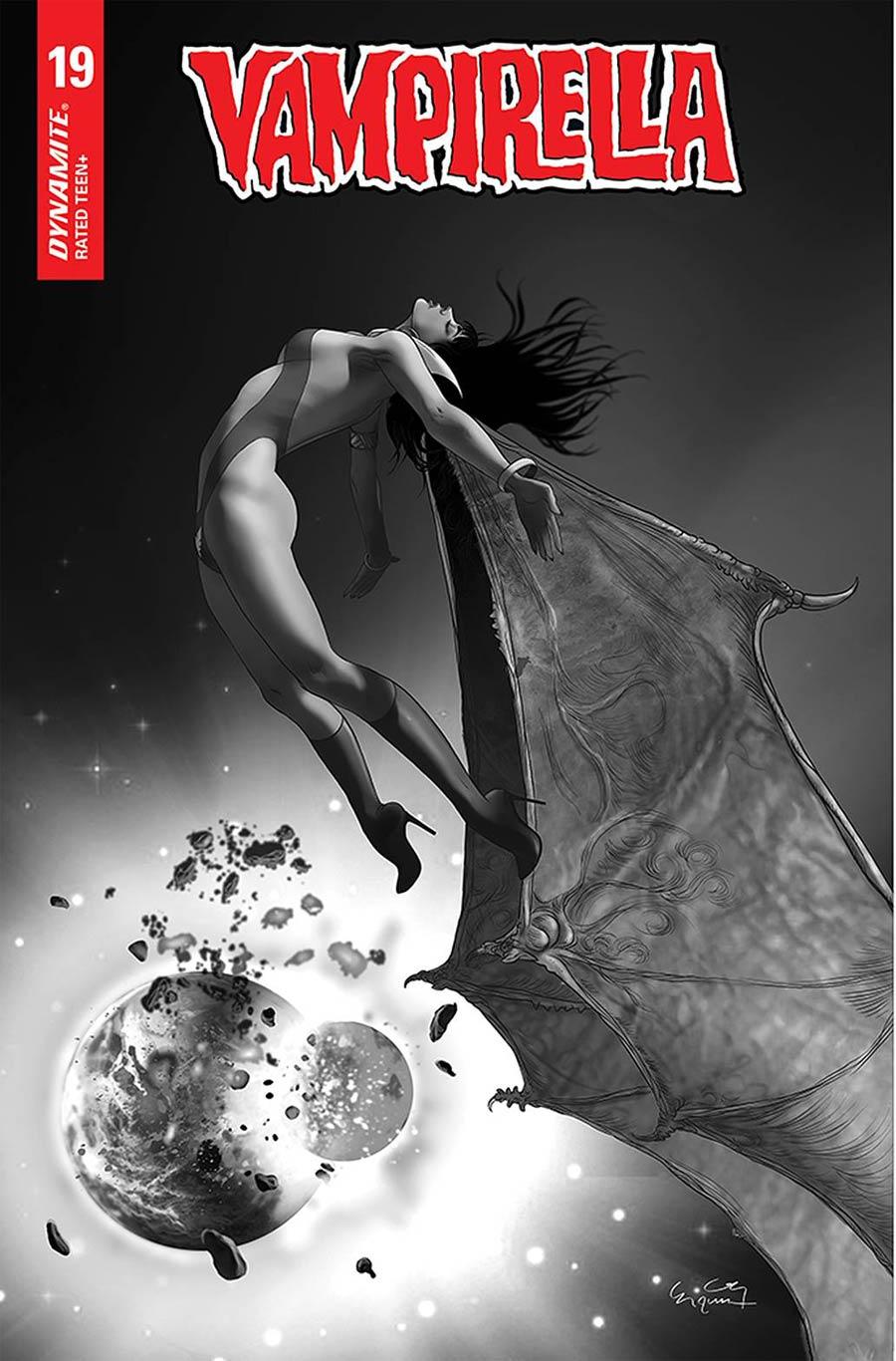 Vampirella Vol 8 #19 Cover L Incentive Ergun Gunduz Black & White Cover