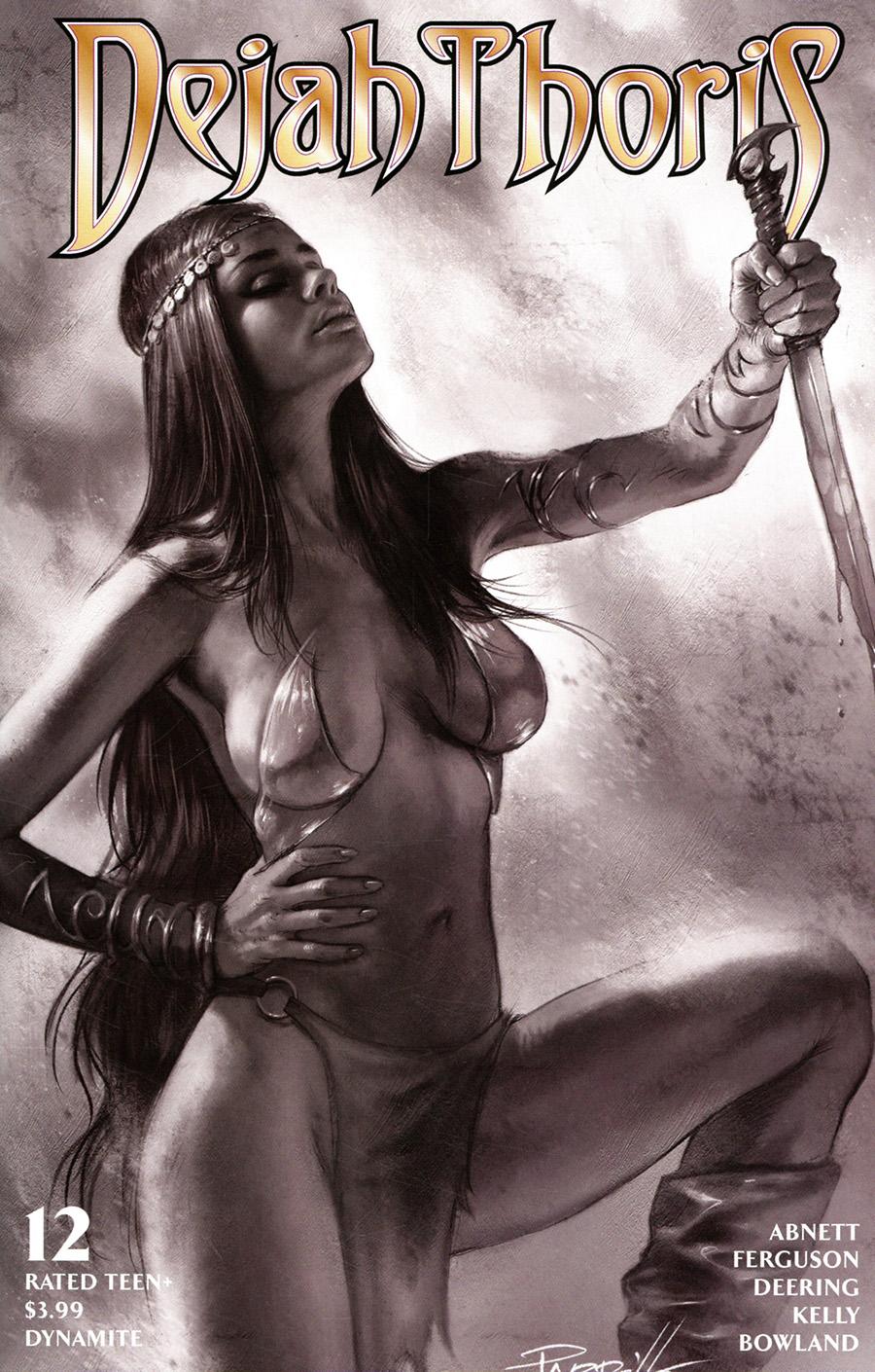 Dejah Thoris Vol 3 #12 Cover H Incentive Lucio Parrillo Black & White Cover