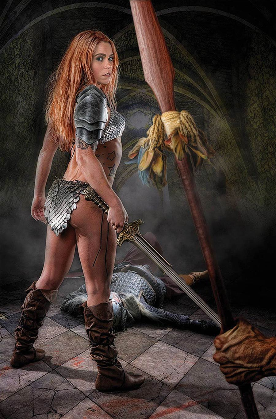 Red Sonja Price Of Blood #3 Cover I Incentive Angel Ray Cosplay Photo Virgin Cover