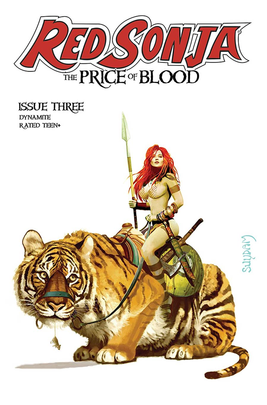 Red Sonja Price Of Blood #3 Cover T Regular Arthur Suydam Cover CGC Graded