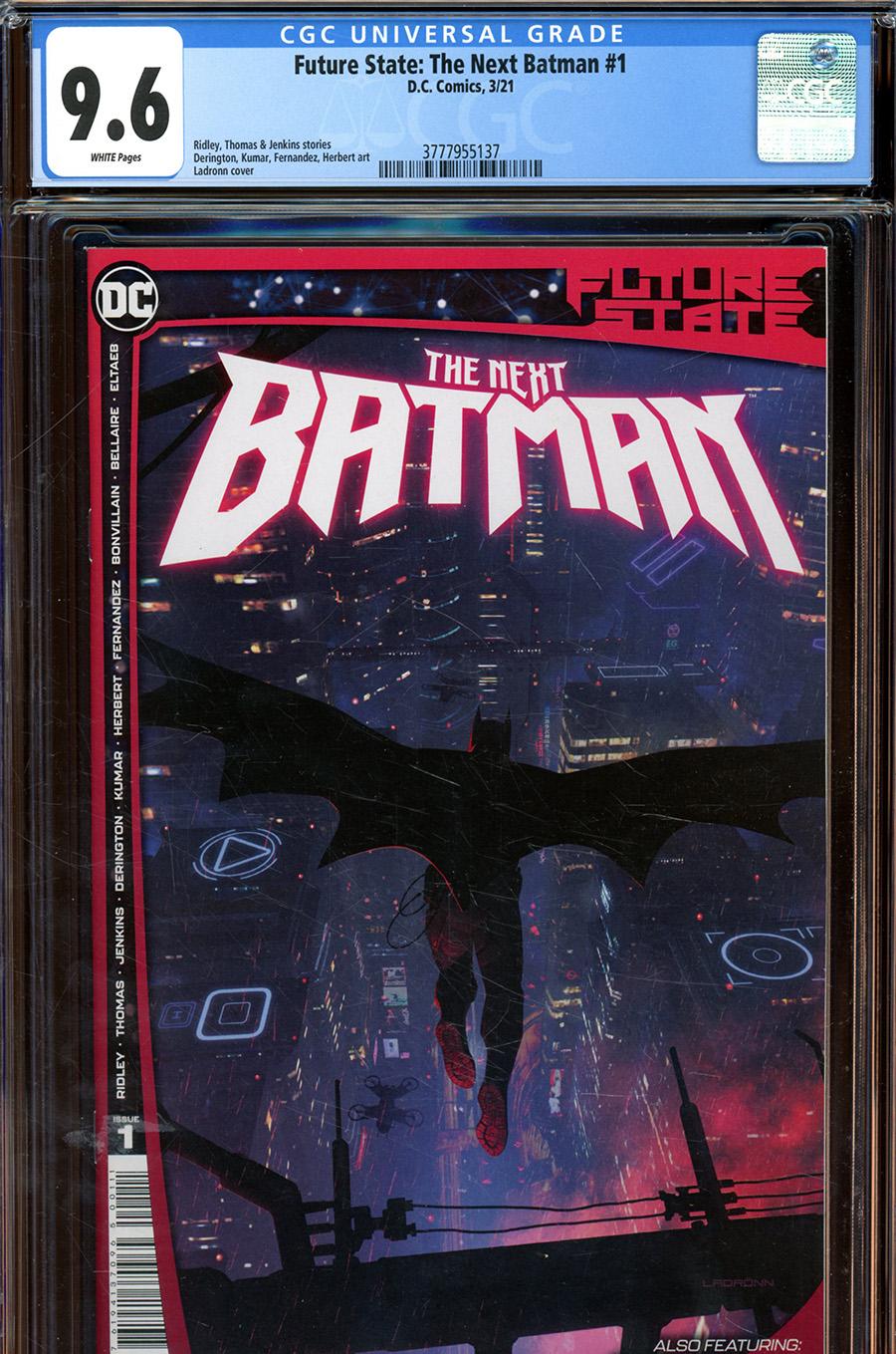 Future State The Next Batman #1 Cover E DF CGC Graded