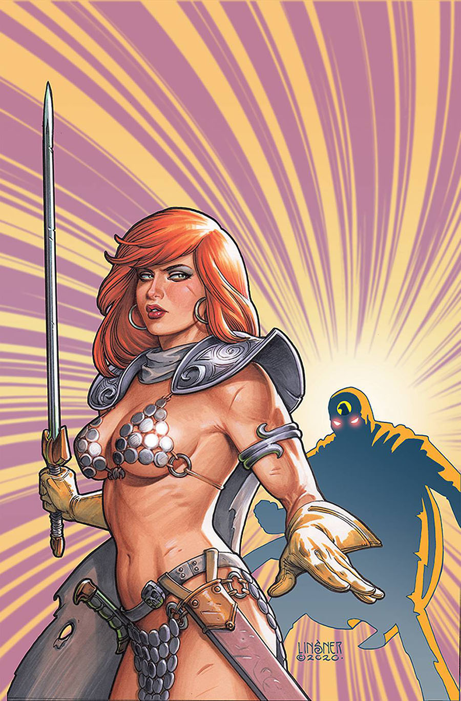 Red Sonja The Superpowers #2 Cover W Limited Edition Joseph Michael Linsner Virgin Cover