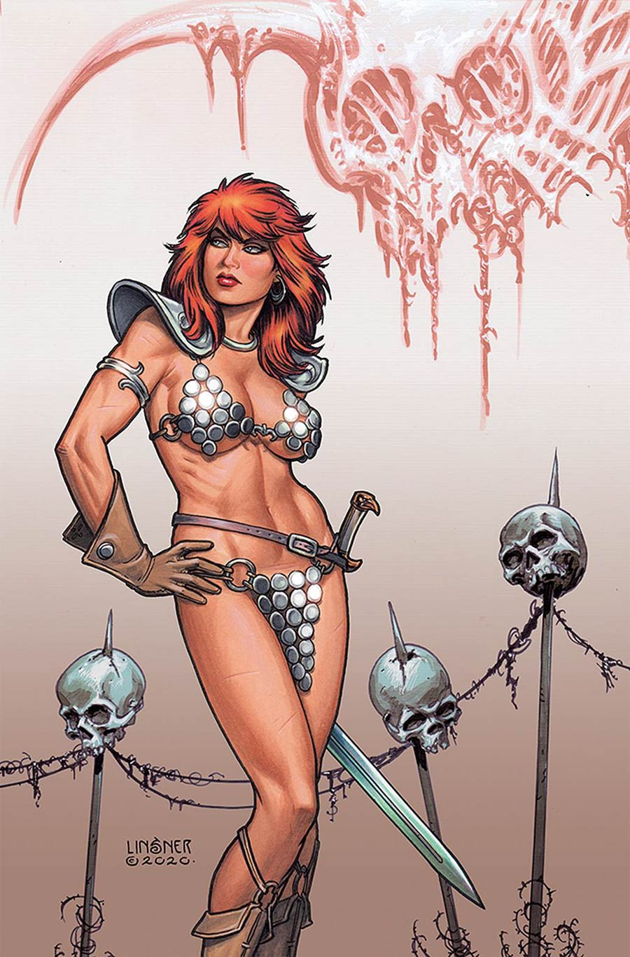 Red Sonja Price Of Blood #3 Cover P Limited Edition Joseph Michael Linsner Virgin Cover