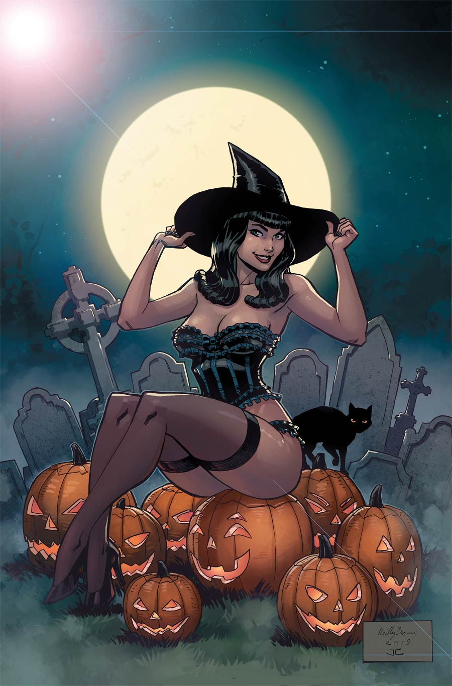 Bettie Page Halloween Special 2019 One Shot Cover D Limited Edition Metal Cover