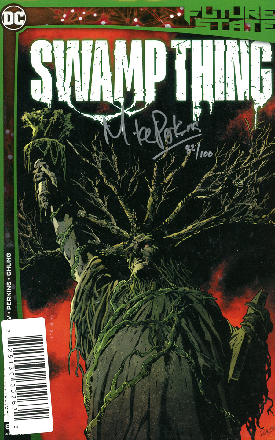 Future State Swamp Thing #1 Cover C DF Signed By Mike Perkins