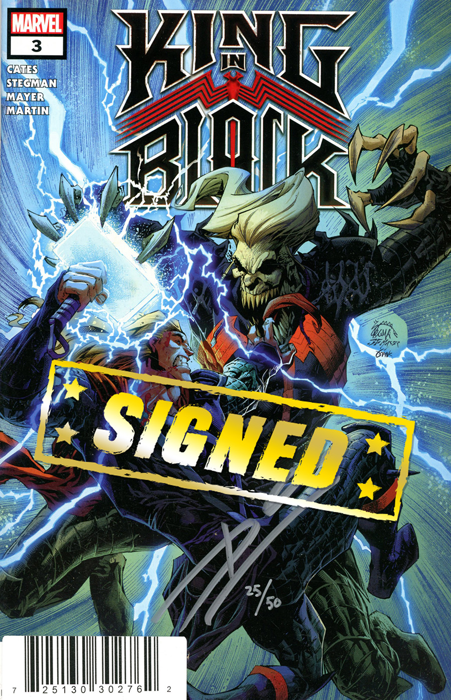 King In Black #3 Cover H DF Signed By Donny Cates