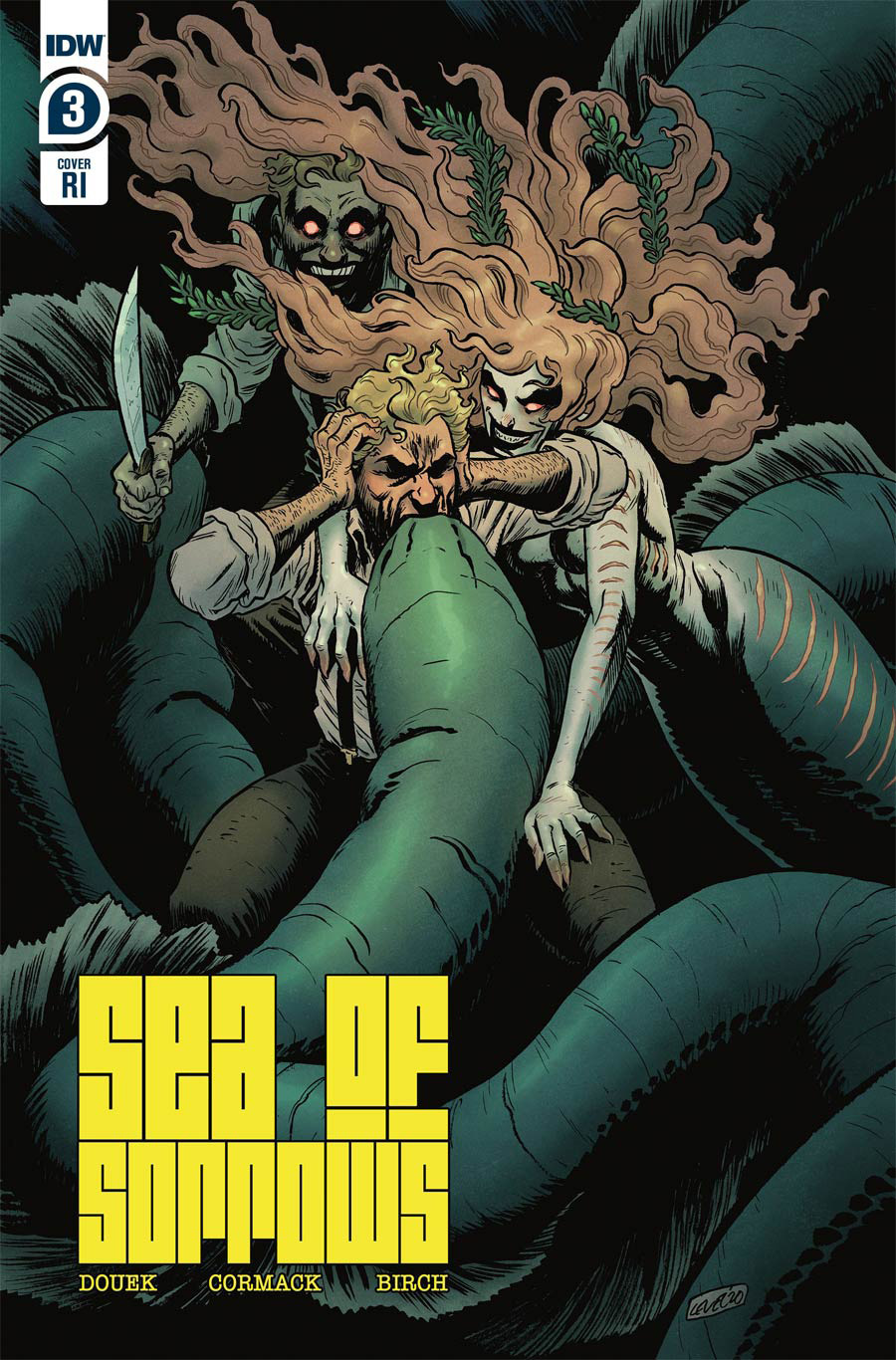Sea Of Sorrows #4 Cover B Incentive Brian Level Variant Cover