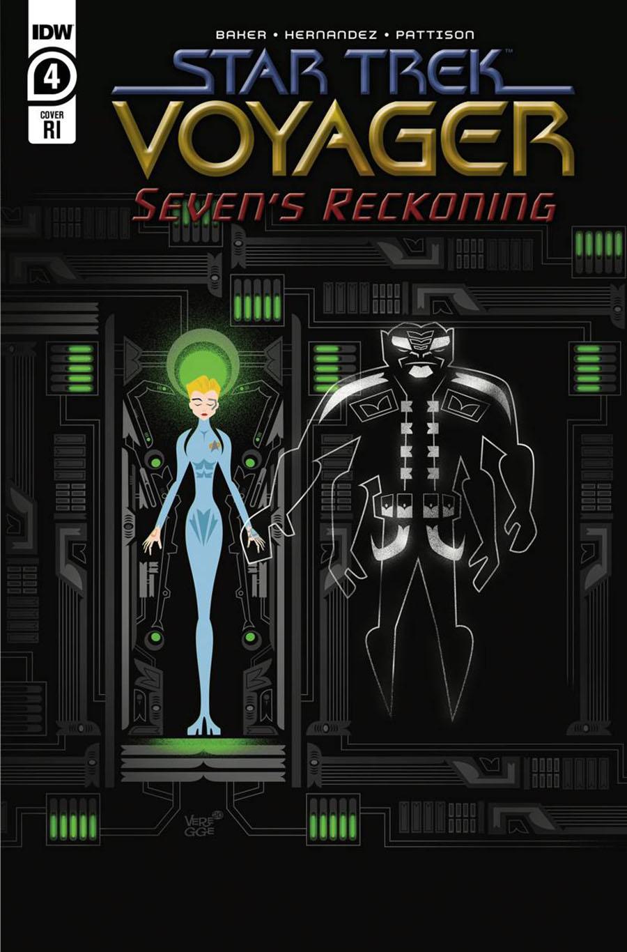 Star Trek Voyager Sevens Reckoning #4 Cover C Incentive Jeffrey Veregge Variant Cover
