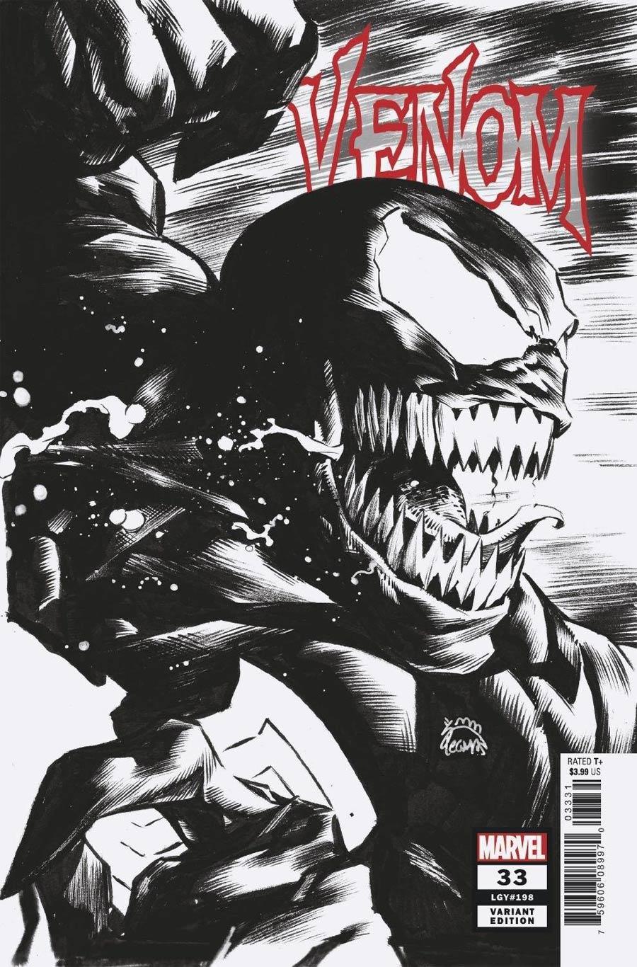 Venom Vol 4 #33 Cover D Incentive Ryan Stegman Sketch Cover (King In Black Tie-In)