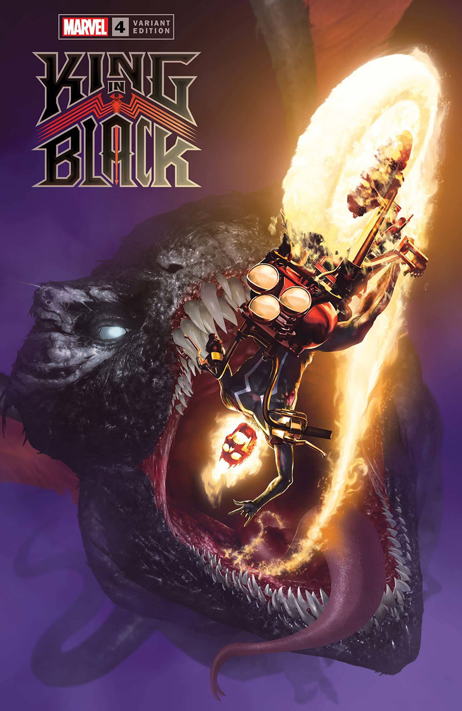 King In Black #4 Cover E Incentive Rahzzah Dragon Variant Cover