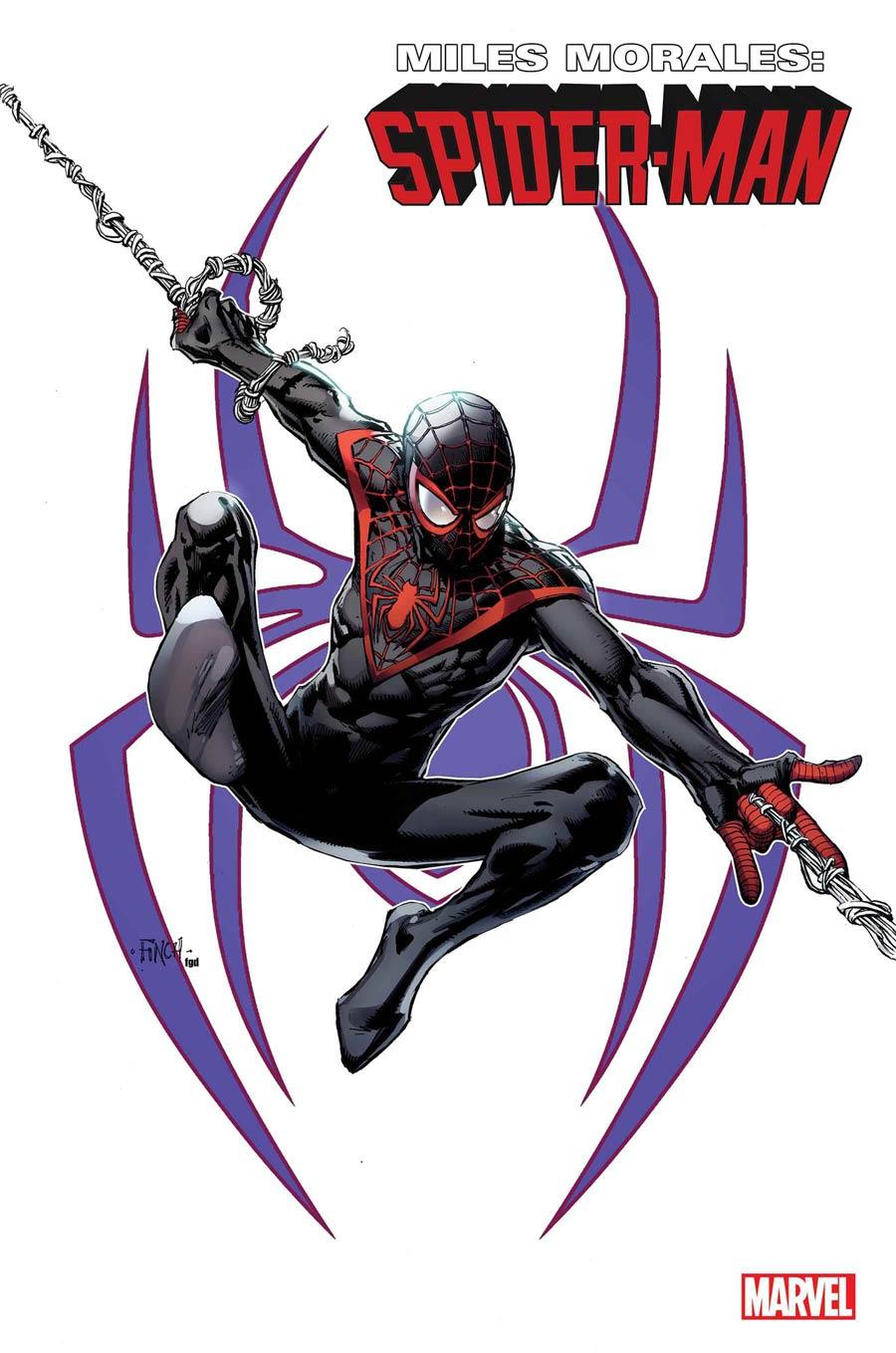 Miles Morales Spider-Man #23 Cover C Incentive David Finch Miles Morales Variant Cover (King In Black Tie-In)