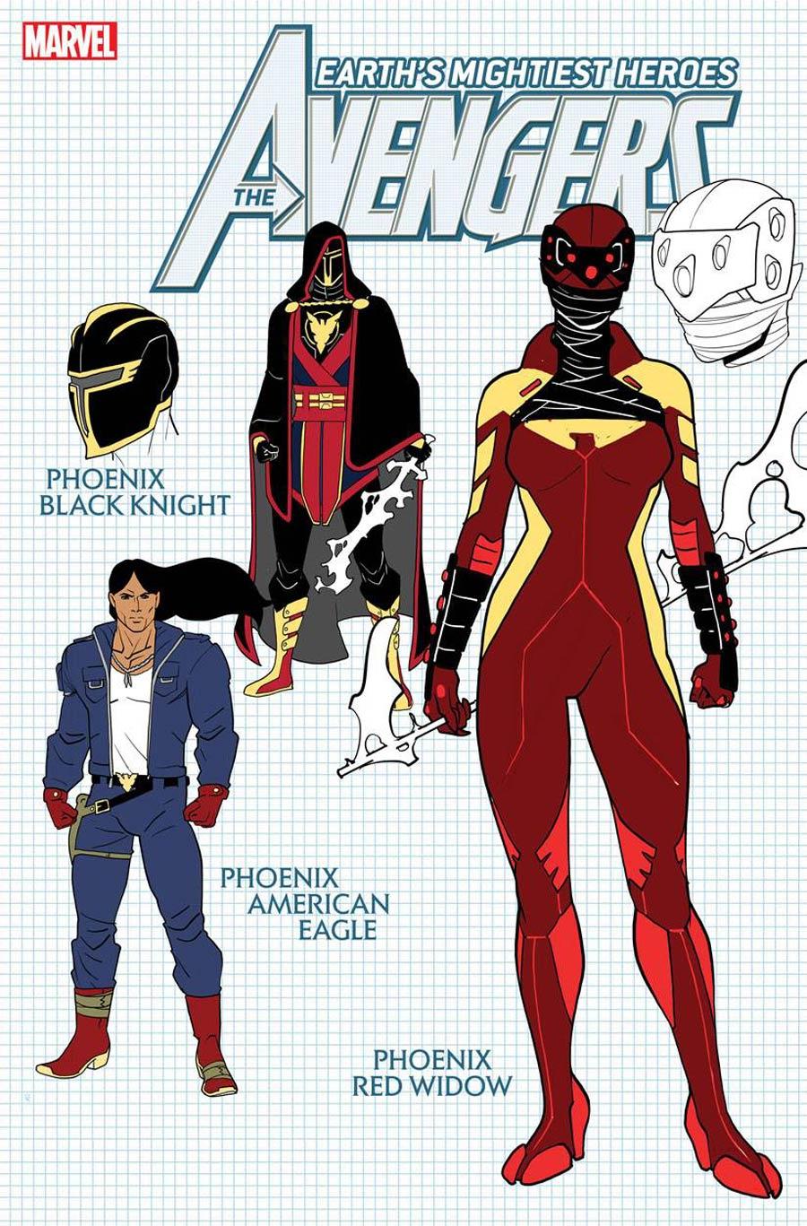 Avengers Vol 7 #42 Cover E Incentive Javier Garron Design Variant Cover