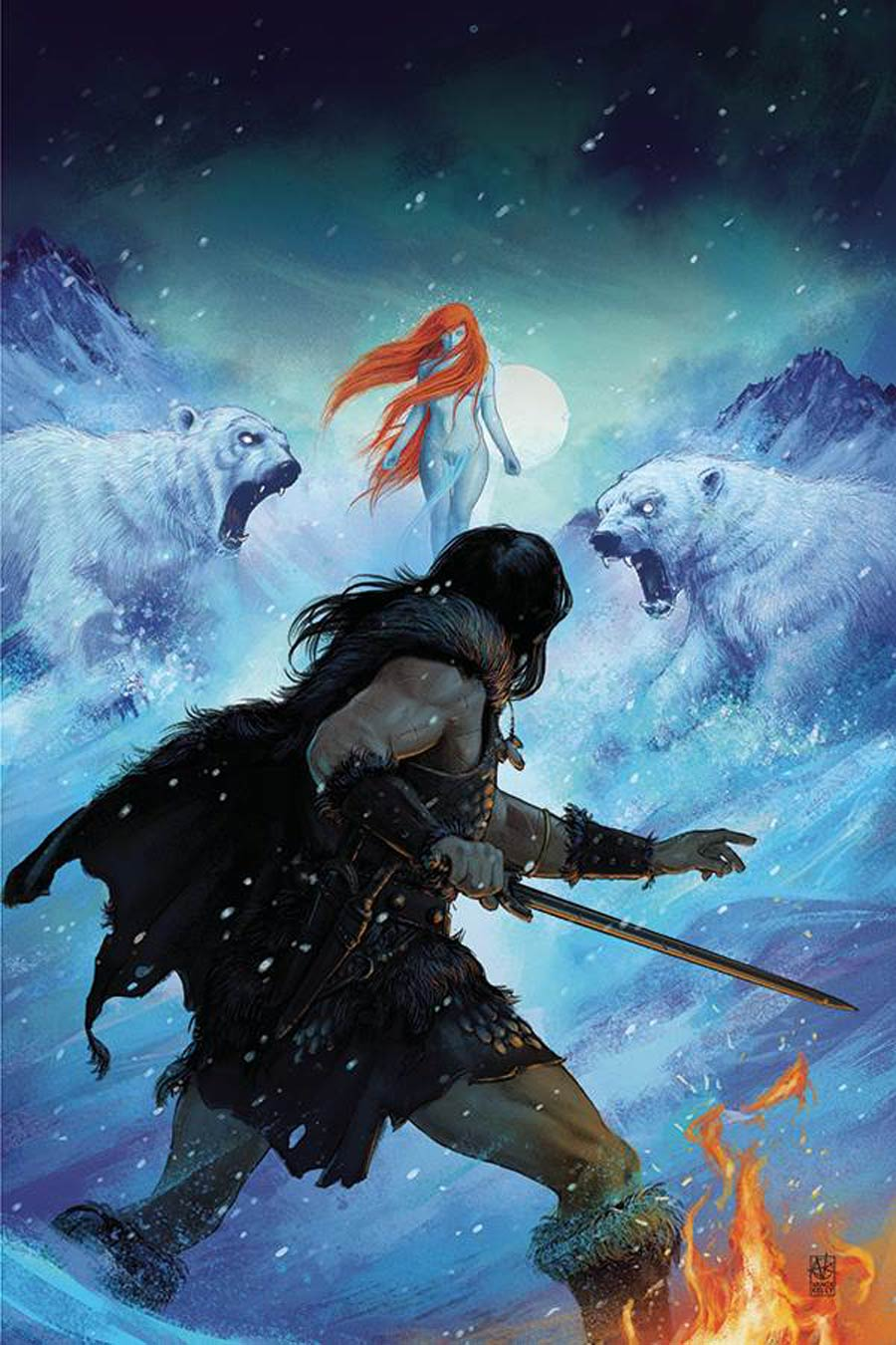 Cimmerian Frost-Giants Daughter #3 Cover E Incentive Vance Kelly Virgin Cover