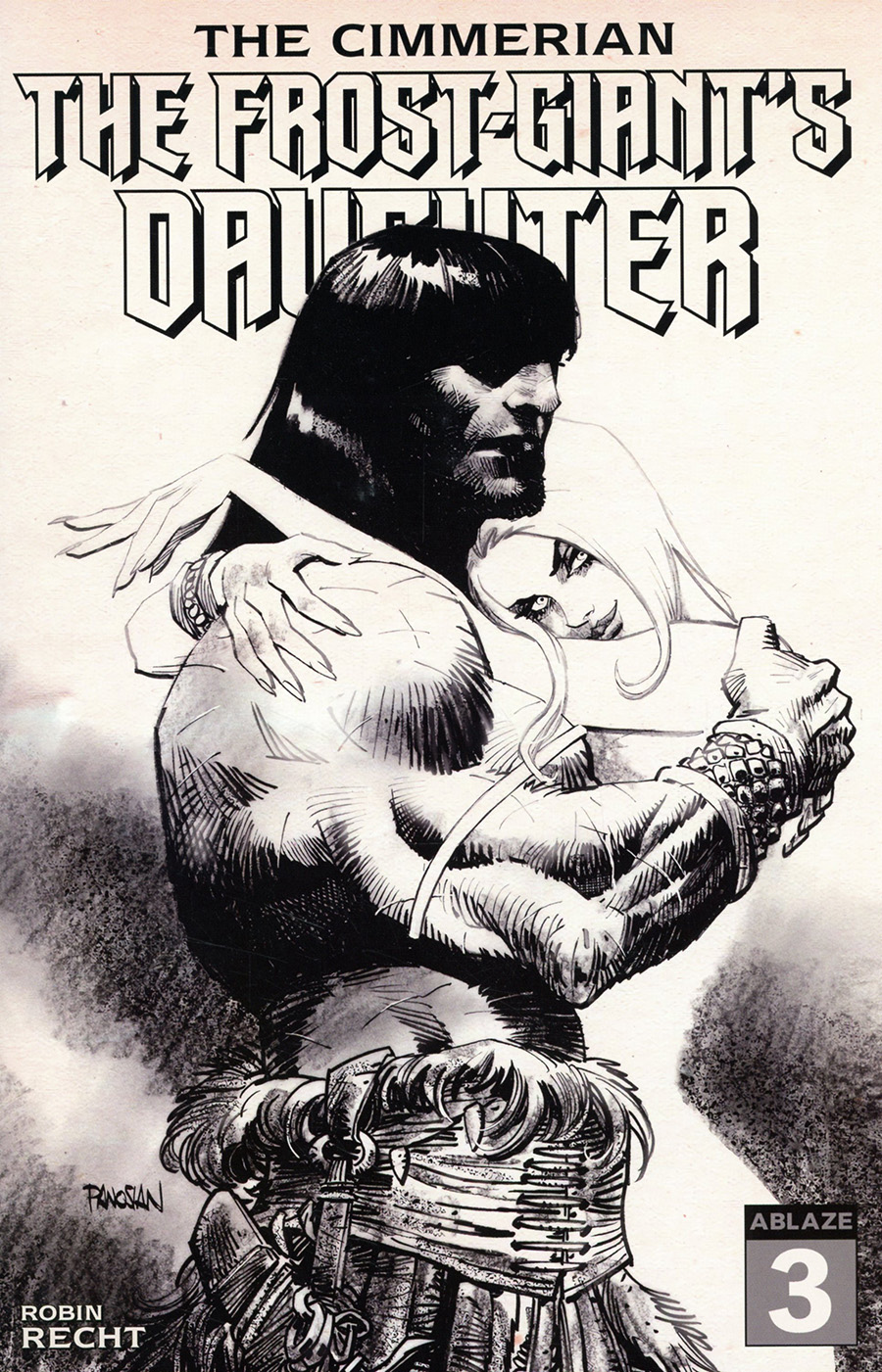 Cimmerian Frost-Giants Daughter #3 Cover F Incentive Dan Panosian Pencil Art Cover