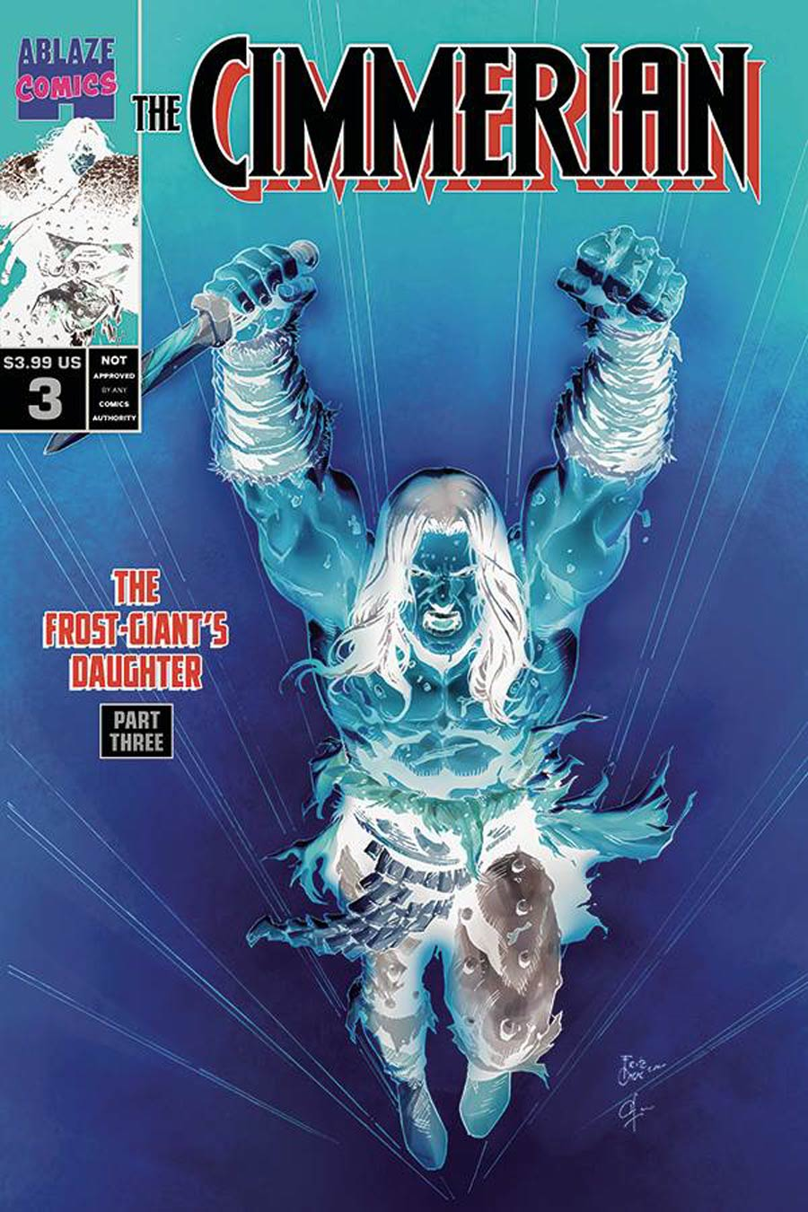 Cimmerian Frost-Giants Daughter #3 Cover G Incentive Fritz Casas Wolverine 27 Parody Negative Cover