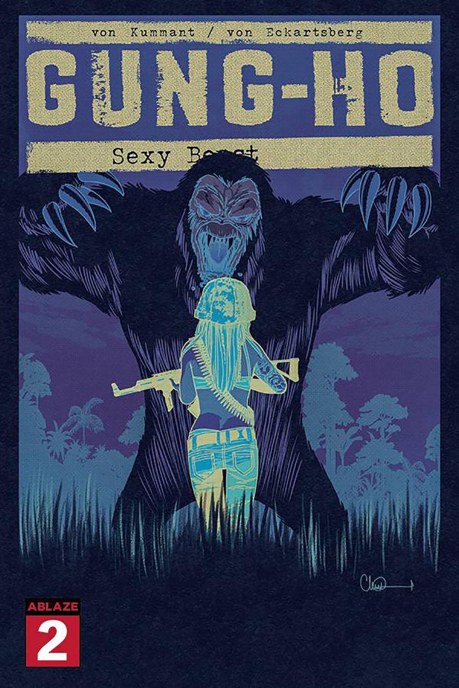 Gung-Ho Sexy Beast #2 Cover G Incentive Charlie Adlard Negative Cover
