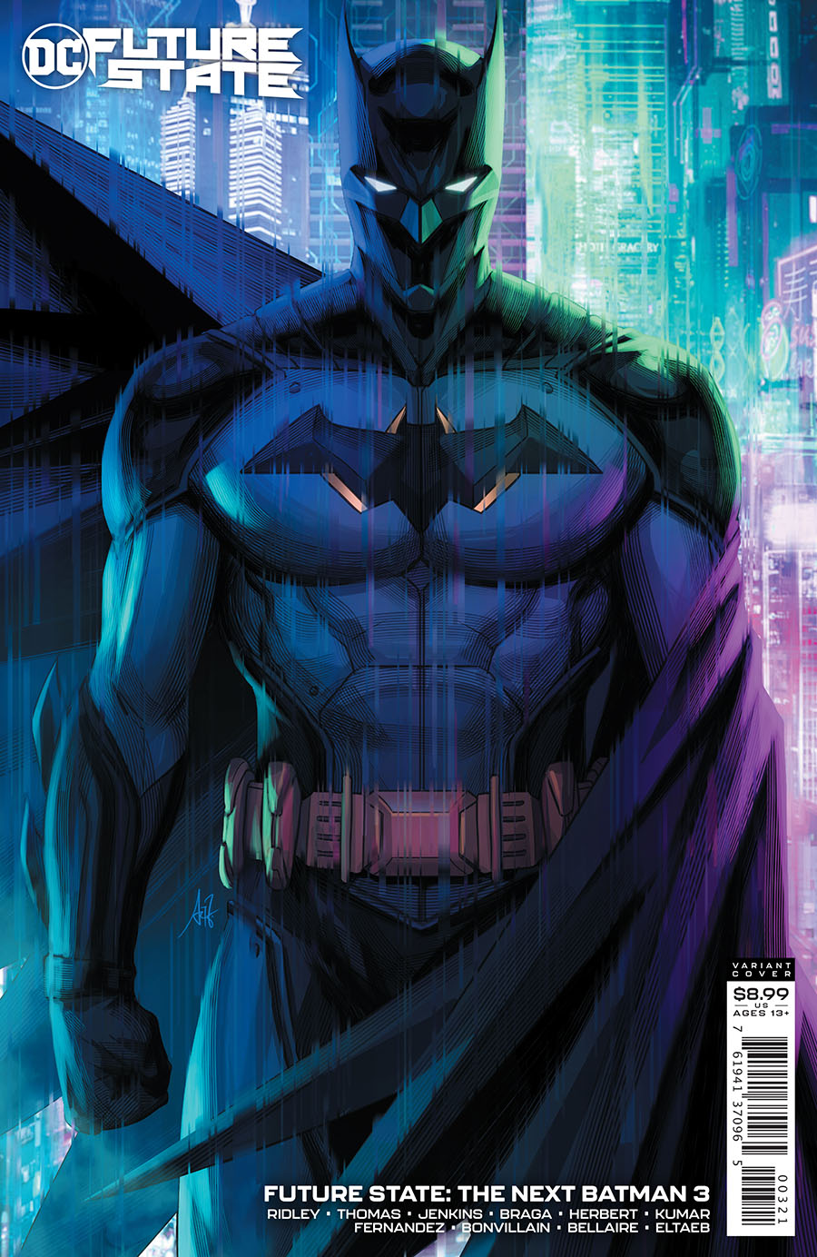 Future State The Next Batman #3 Cover B Variant Stanley Artgerm Lau Card Stock Cover