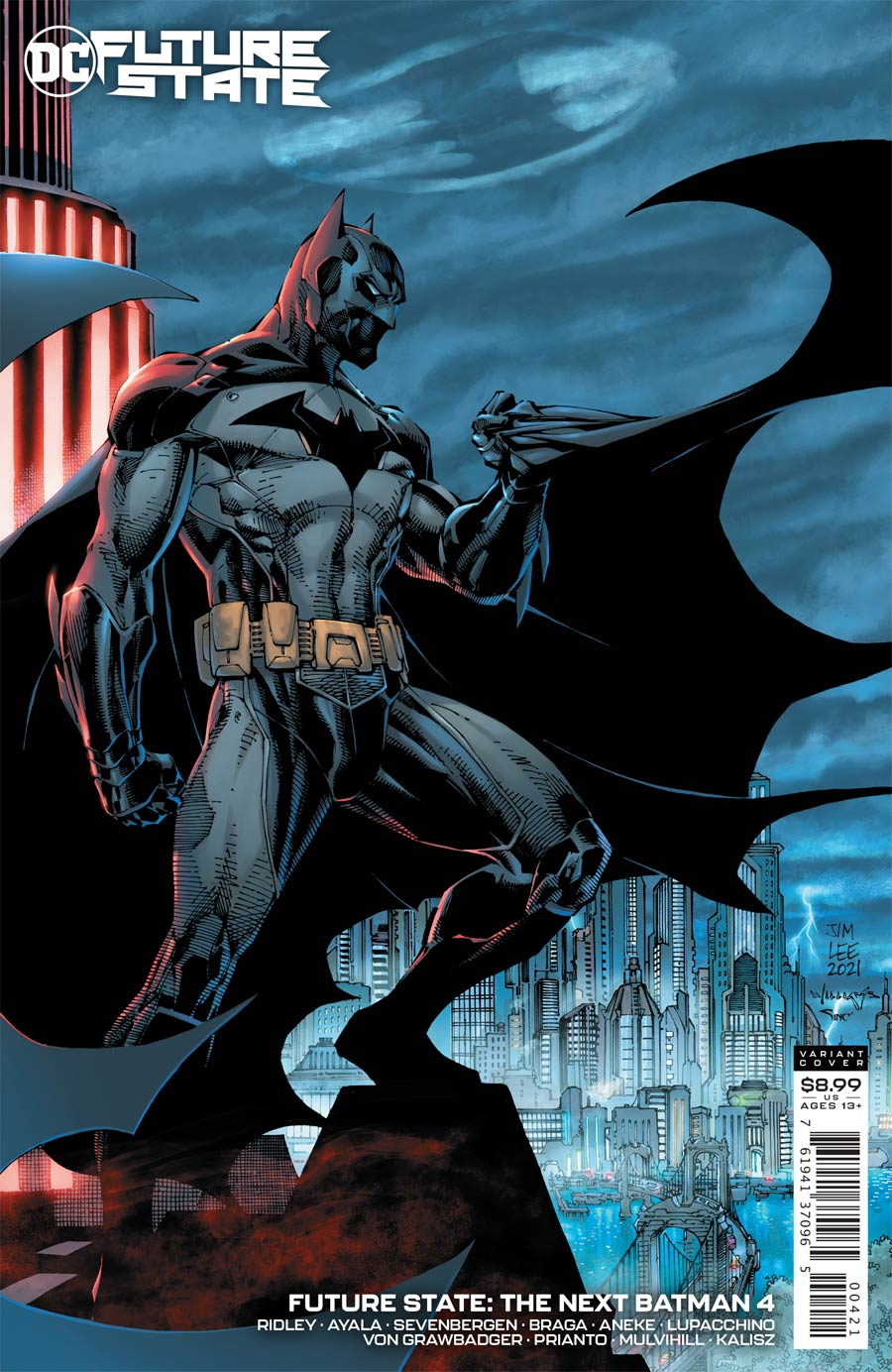Future State The Next Batman #4 Cover B Variant Jim Lee & Scott Williams Card Stock Cover