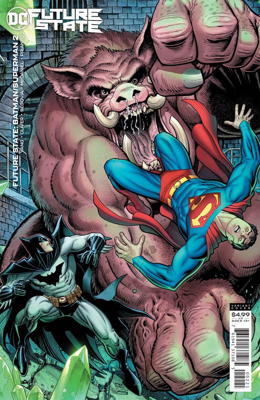 Future State Batman Superman #2 Cover B Variant Arthur Adams Card Stock Cover