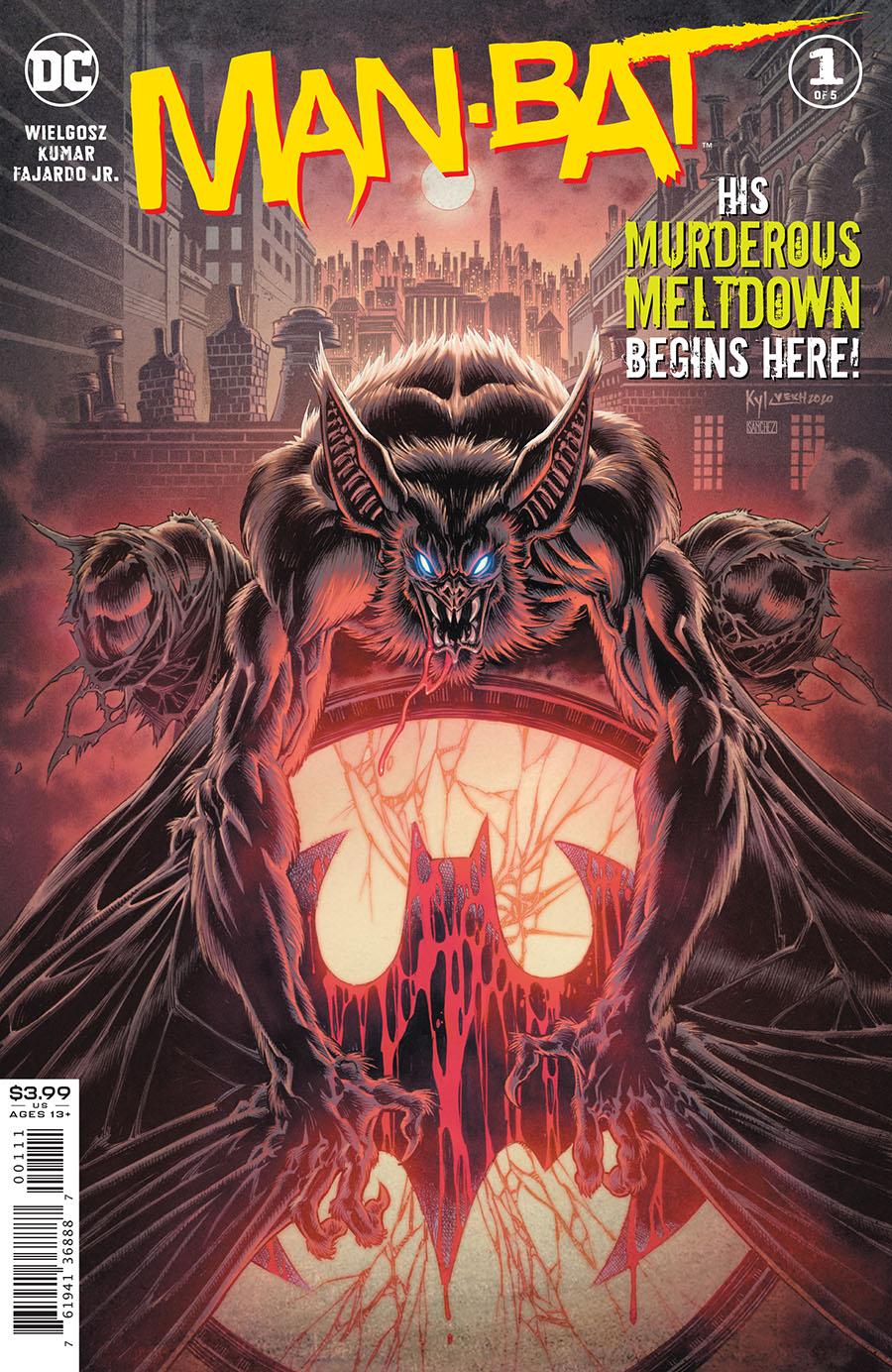 Man-Bat Vol 4 #1 Cover A Regular Kyle Hotz Cover