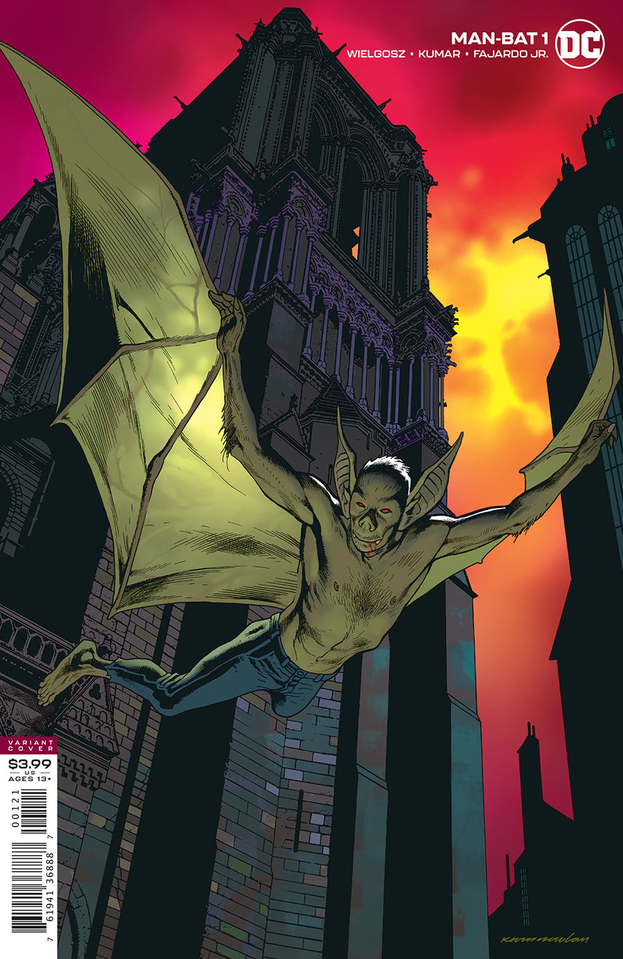 Man-Bat Vol 4 #1 Cover B Variant Kevin Nowlan Cover