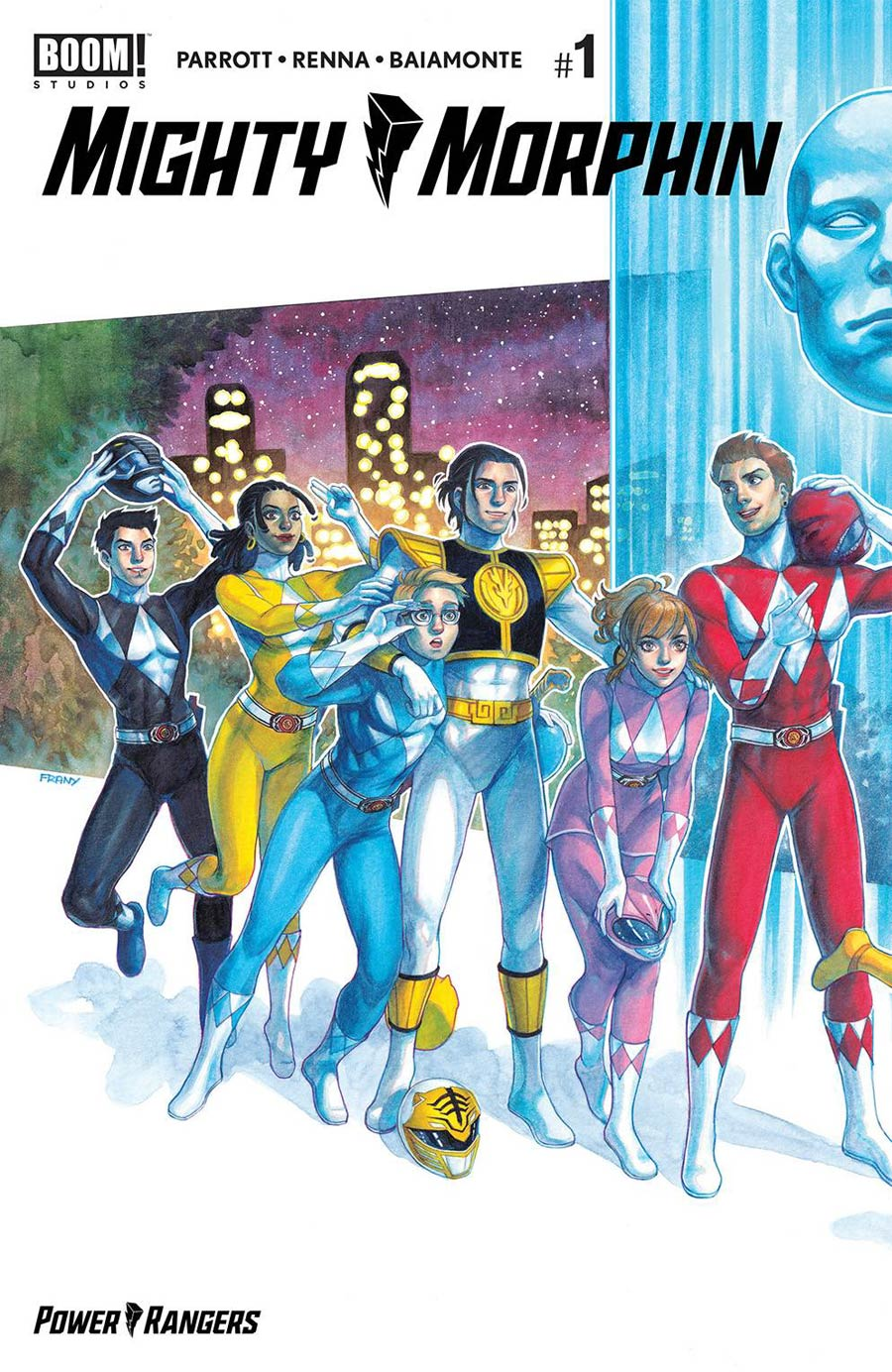 Mighty Morphin #1 Cover O 2nd Ptg FRANY Connecting Variant Cover