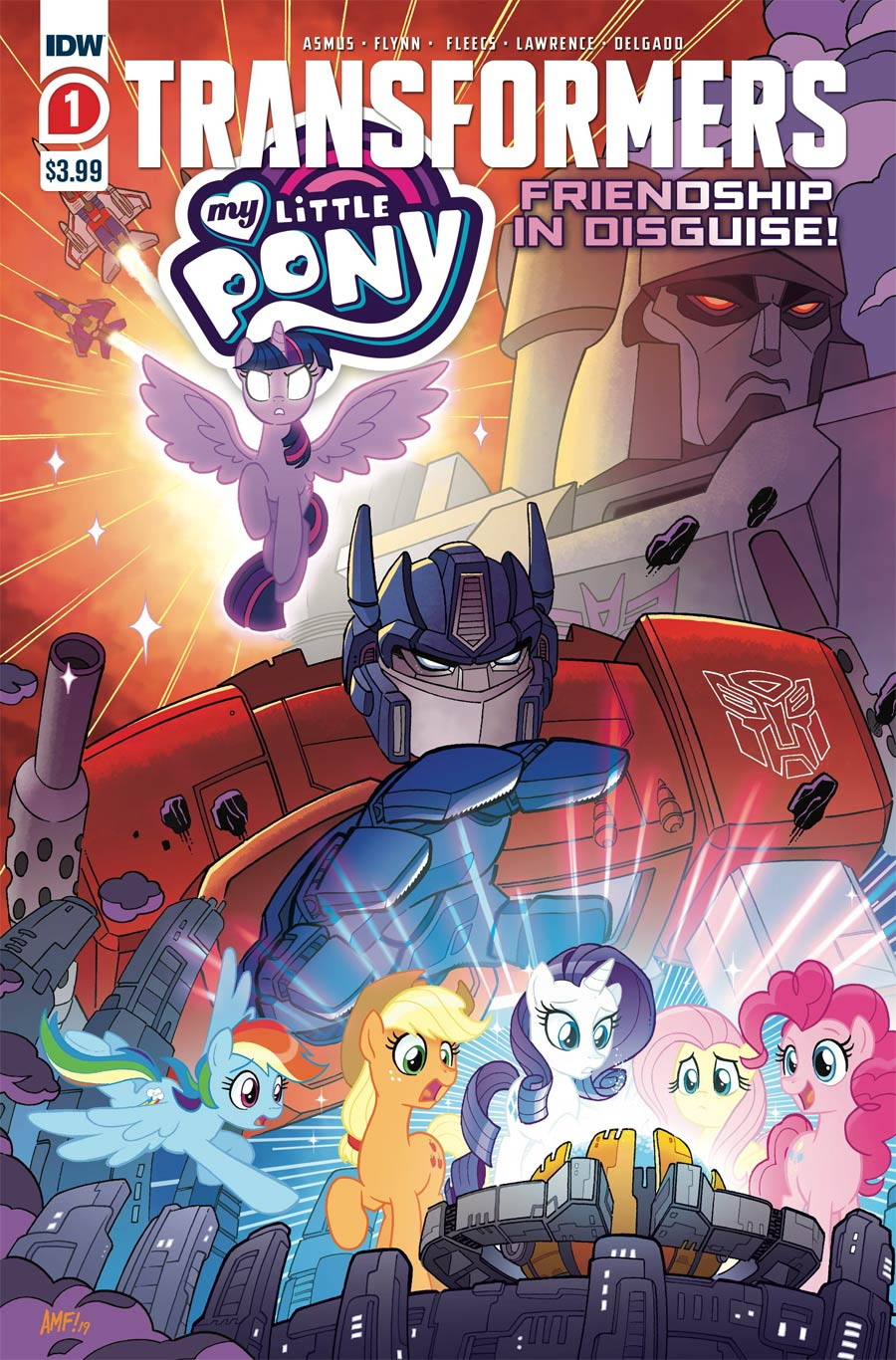 My Little Pony Transformers Friendship In Disguise #1 Cover D 2nd Ptg