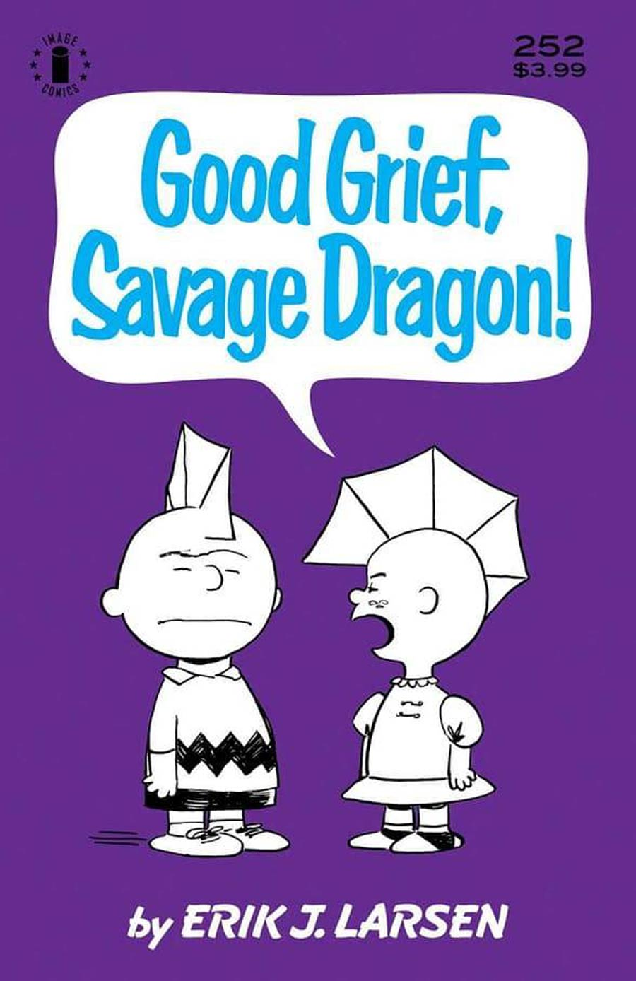 Savage Dragon Vol 2 #252 Cover D 3rd Ptg Charlie Brown Parody Variant Cover