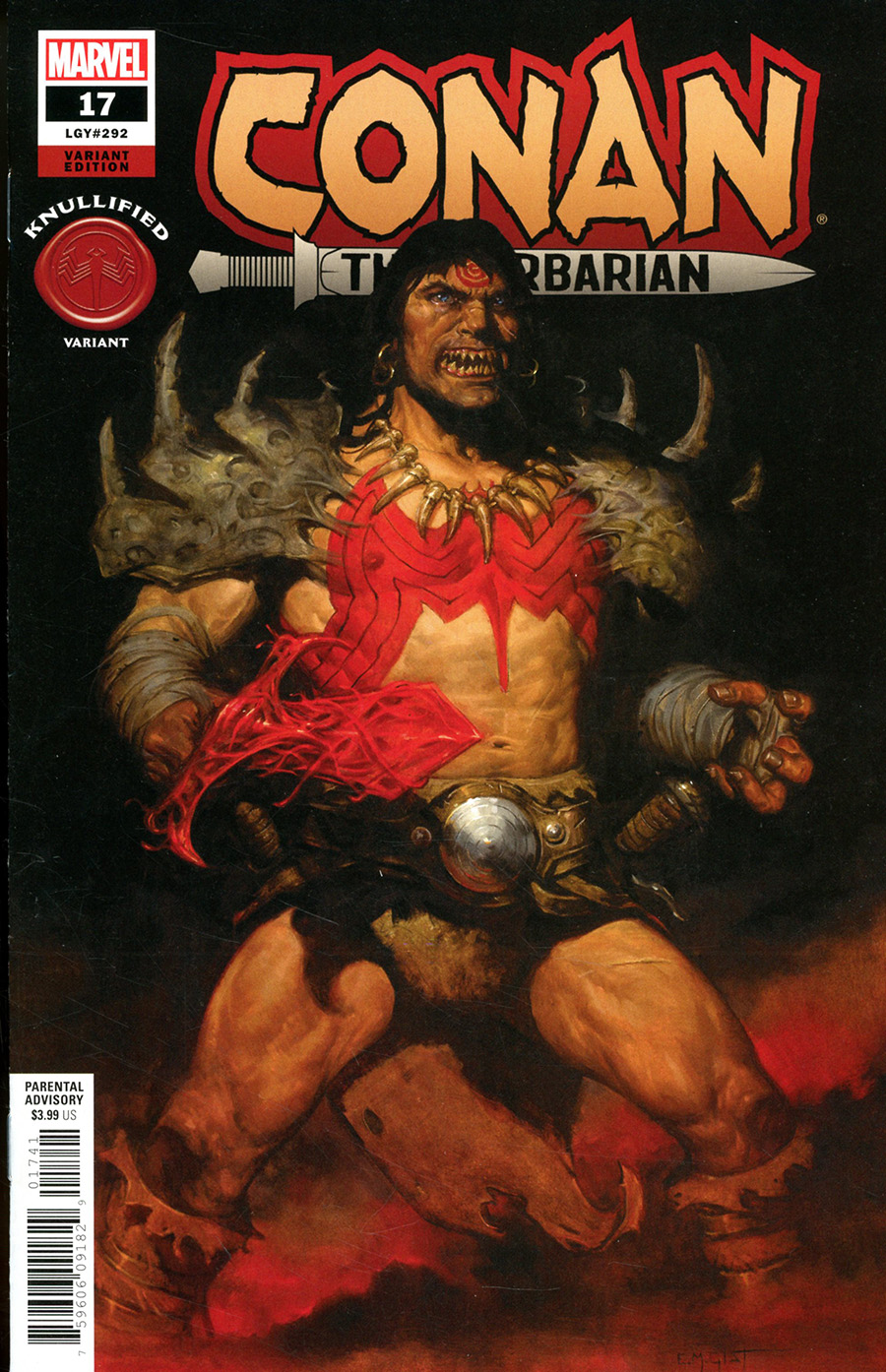 Conan The Barbarian Vol 4 #17 Cover B Variant EM Gist Knullified Cover