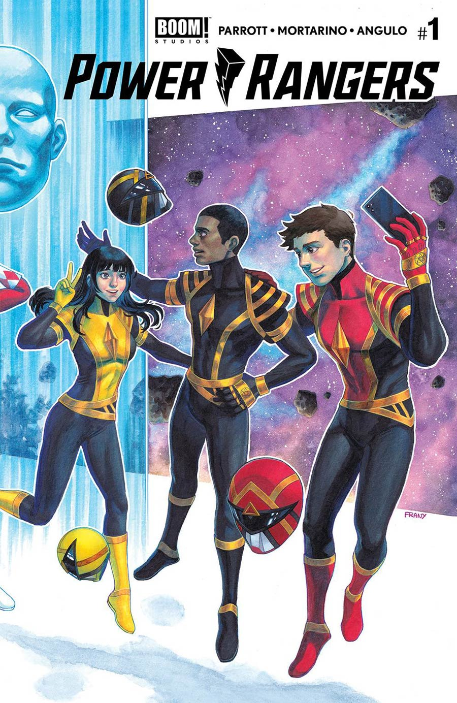 Power Rangers #1 Cover P 2nd Ptg FRANY Connecting Variant Cover