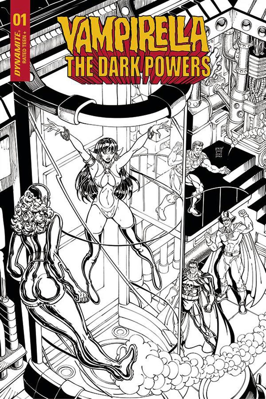 Vampirella The Dark Powers #1 Cover I Incentive Will Robson Spider-Man Homage Black & White Cover
